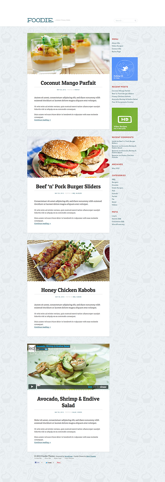 Foodie - A Whimsical Food Blogging Theme - 5