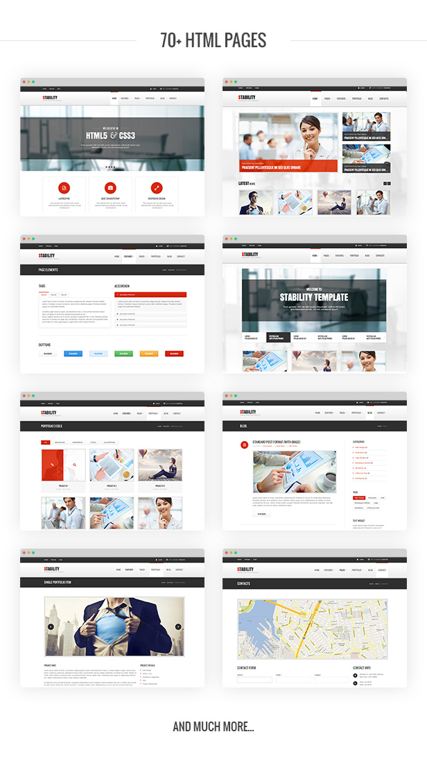 Stability HTML Template Pages