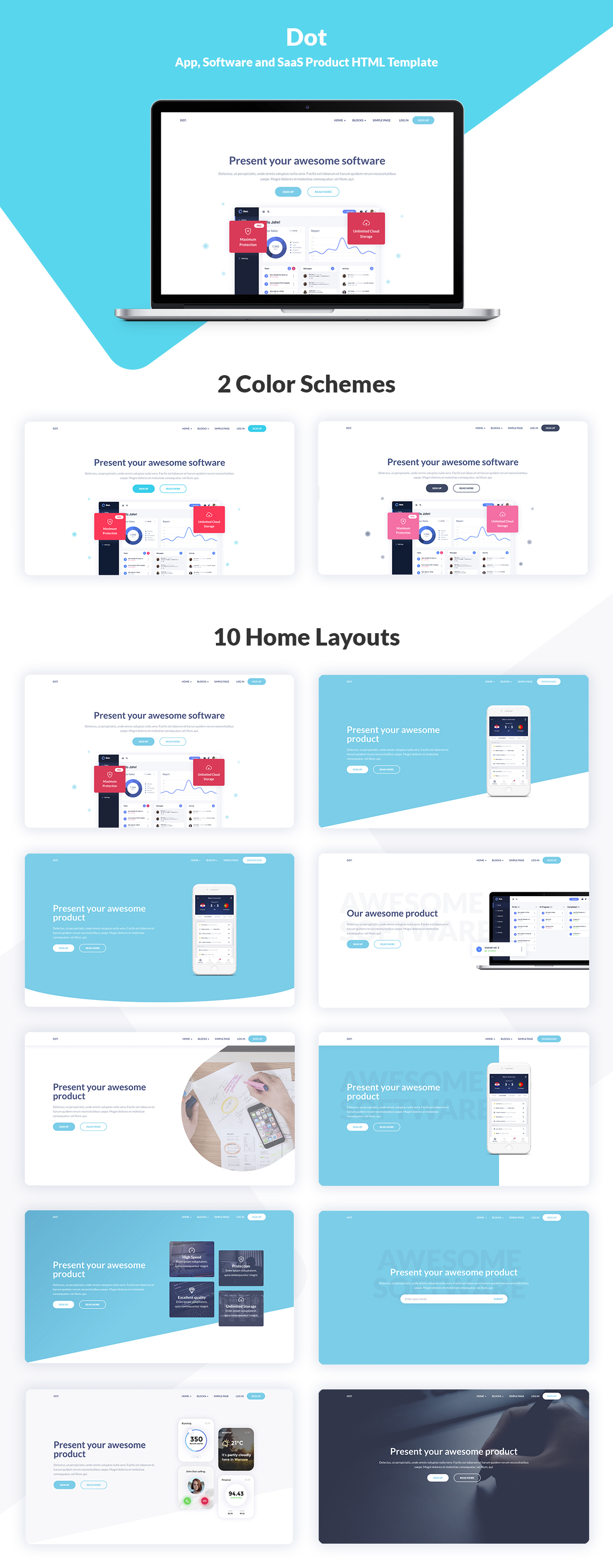 Dot App Software And Saas Product Html Template By Harbourthemes