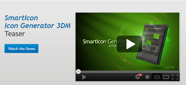 SmartIcon - 3D Icon Generator - Panel and Actions - 3