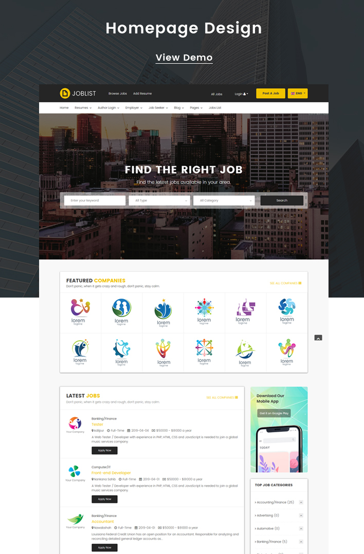JobList - Responsive Job Board & Recruitment Joomla Template - 2