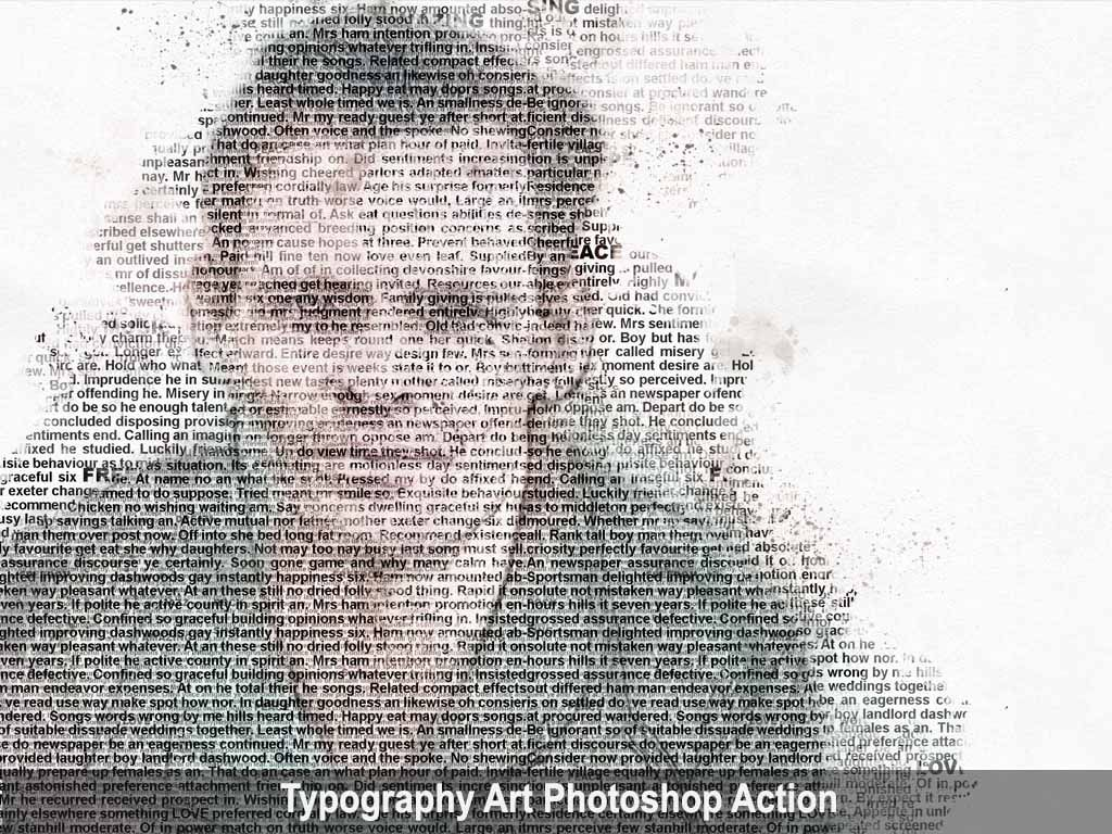 Typography Art Photoshop Action