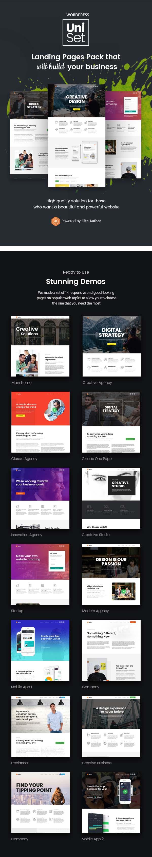 UniSet - Landing Page WordPress Theme by Jthemes | ThemeForest