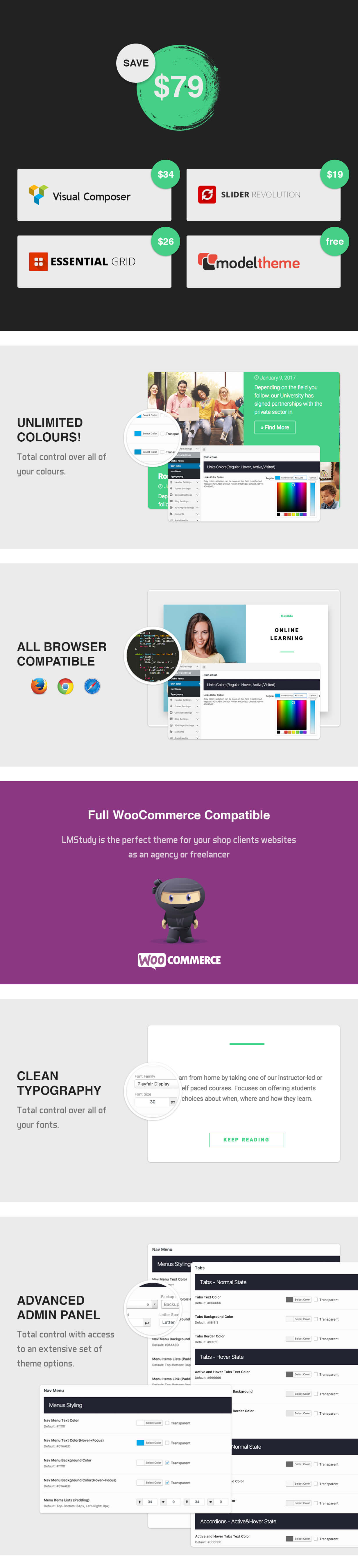 LMStudy - Course / Learning / Education LMS WooCommerce Theme - 5