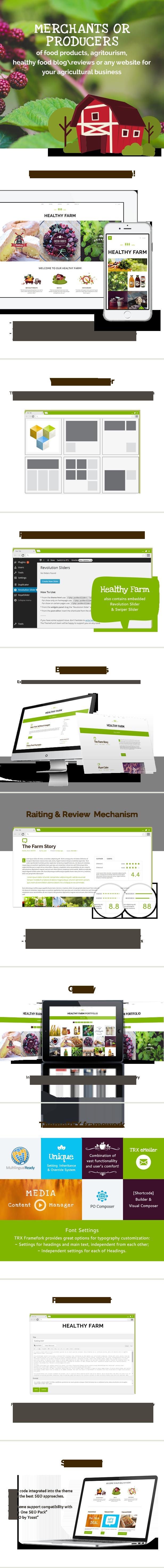 Healthy Farm   Food & Agriculture WordPress Theme - 2