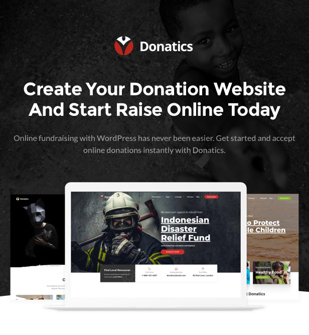 Donatics - Charity & Fundraising WordPress Theme - 1