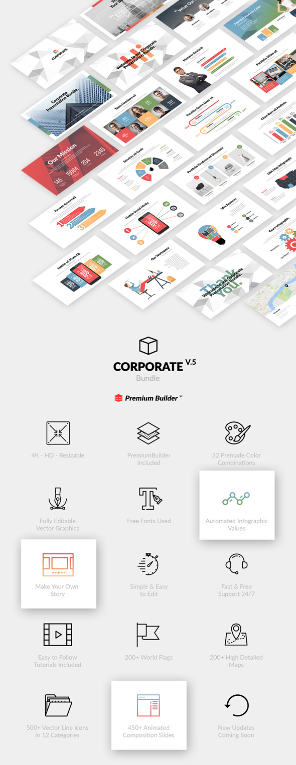 Corporate Bundle & Infographics - 9