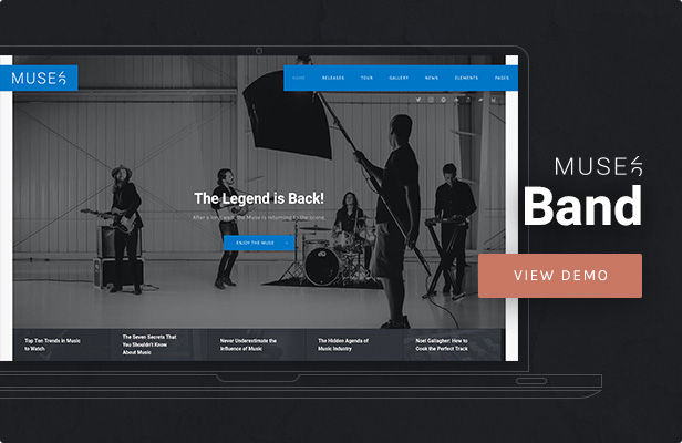 Muse - Music Band WordPress Theme