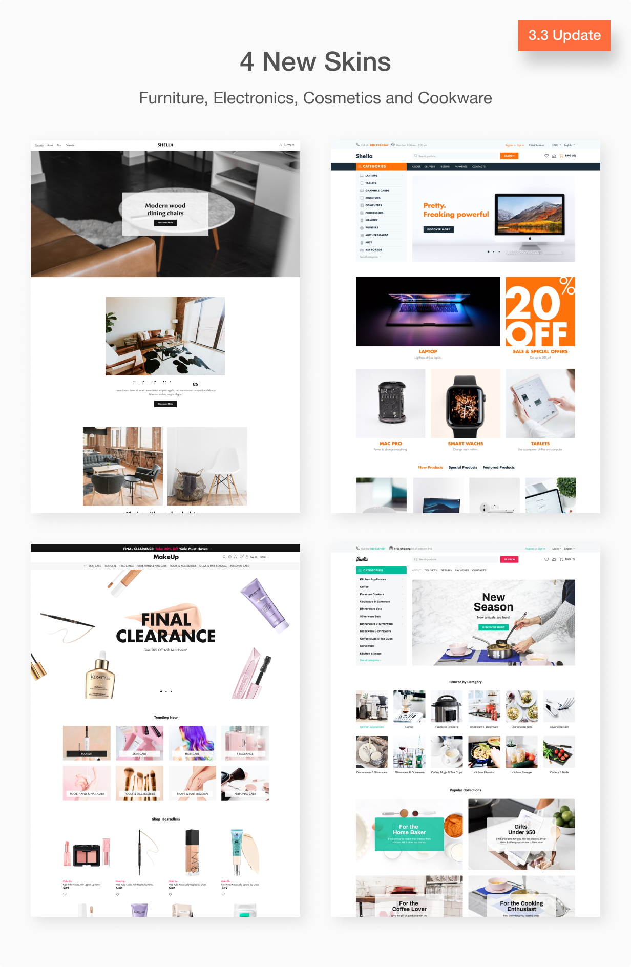 Free Shopify Themes Shella - Multipurpose Shopify Theme Overview