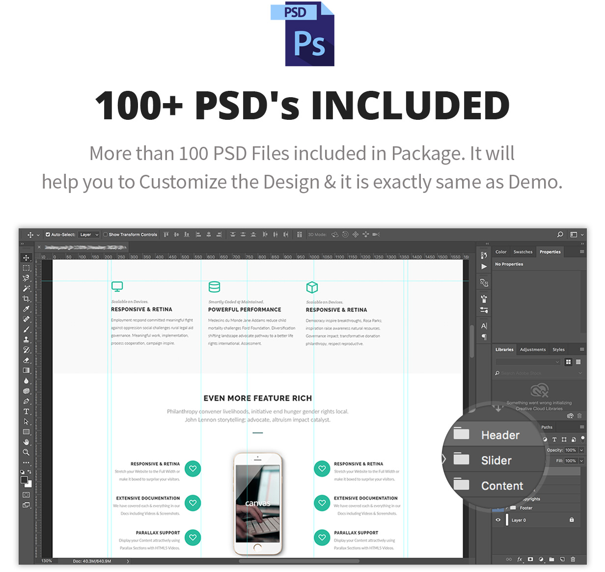 PSD Layouts