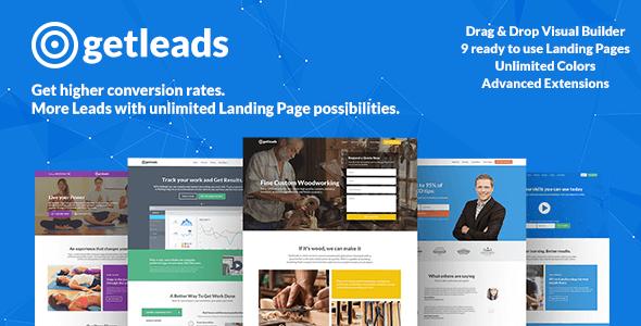 Getleads  High-Performance Landing Page WordPress Theme - Marketing Corporate