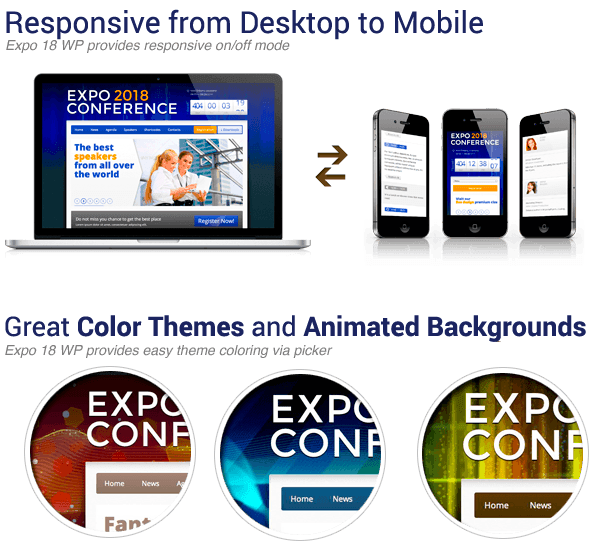 Expo18 Responsive Event Conference WordPress Theme - 5
