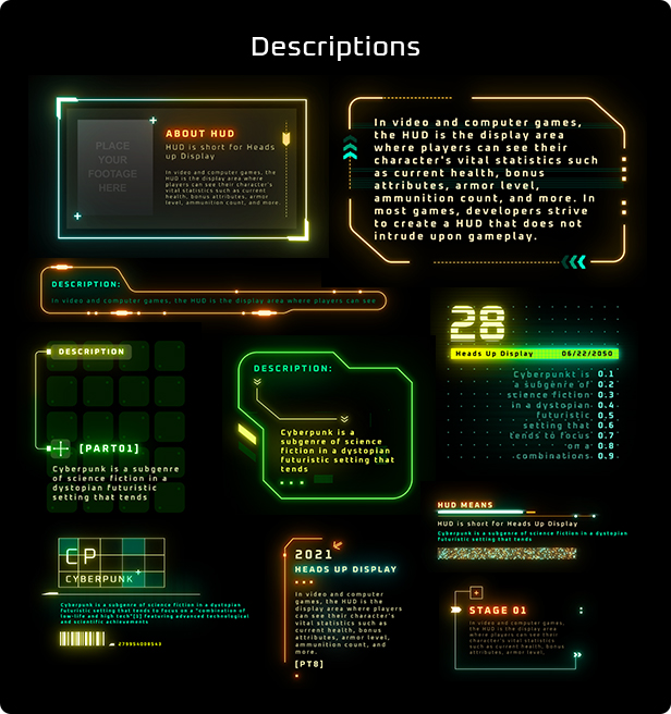 Cyberpunk HUD Elements for After Effects - 17