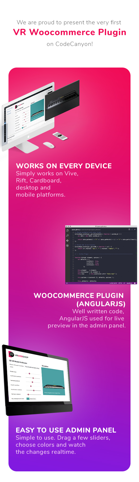 Add 3D models to any Woocommerce shop - Web Virtual Reality