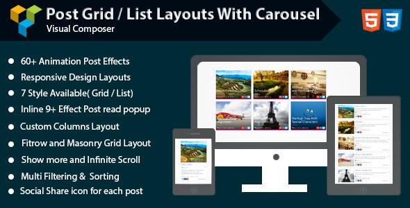 Sosyal Haberler Mesaj Türü - WordPress için Izgara ve Carousel - 1
