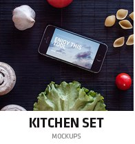 kitchen mockup set