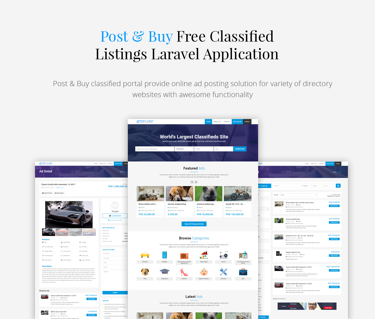 Post and Buy - Classified Ads Listings - 1