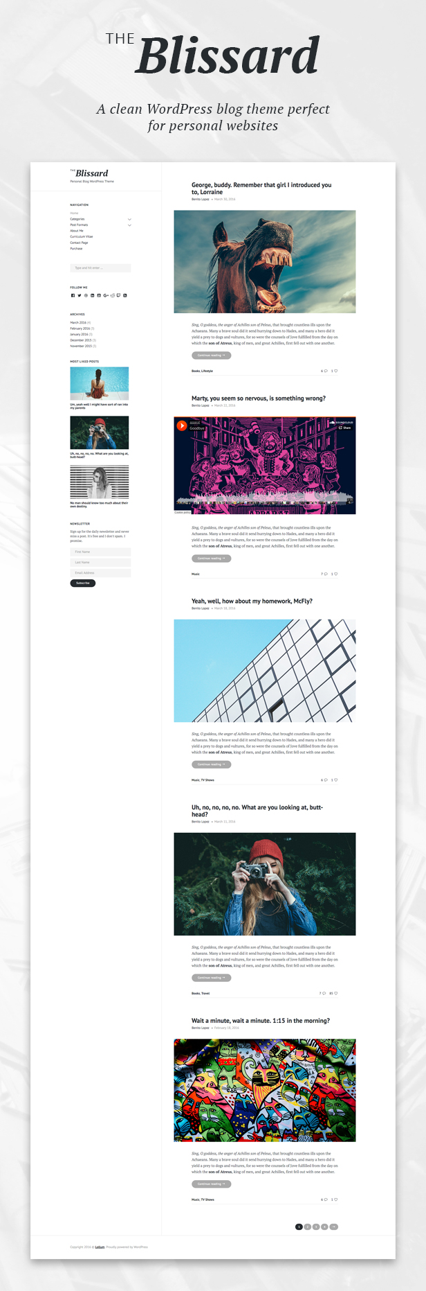 Blissard WordPress Theme