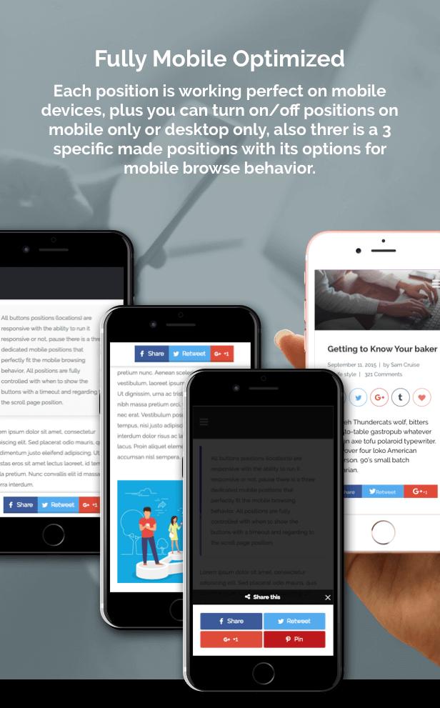 ShareBang, WordPress için Ultimate Sosyal Hisse Düğmeler. - 3