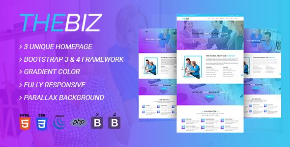 TheBiz - Multipurpose Business And Corporate HTML5 Template - Corporate Site Templates