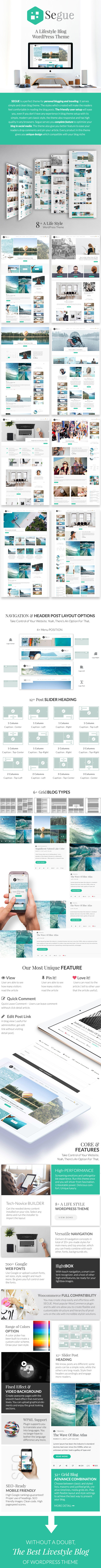 Segue - Multilayout Personal Blog WordPress Theme