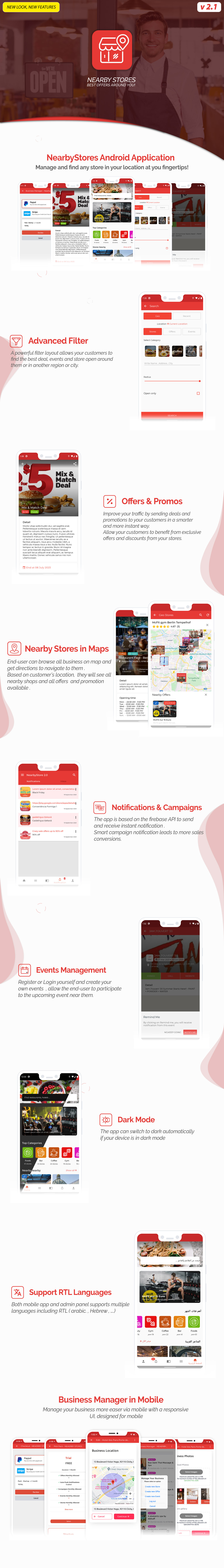 Nearby Stores Android - Offers, Events, Multi-Purpose, Restaurant, Market - Subscription & WEB Panel - 3