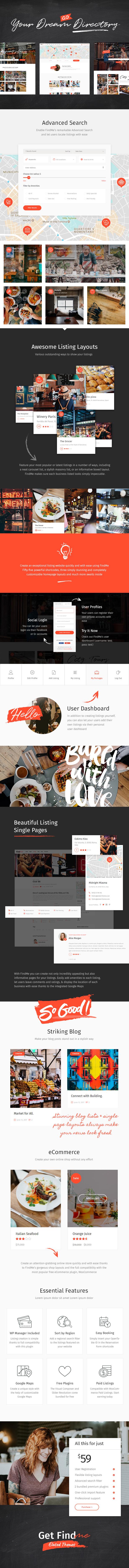 FindMe - Urban Directory Listing Theme - 1