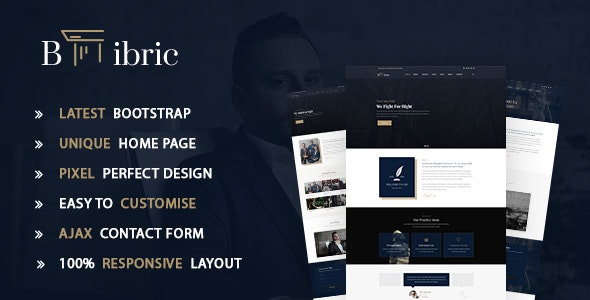 Bibric – Law and Attorney HTML5 Template