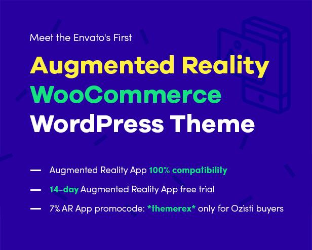 Ozisti | A Multi-Concept WooCommerce WordPress Theme Augmented Reality Store Ready - 1