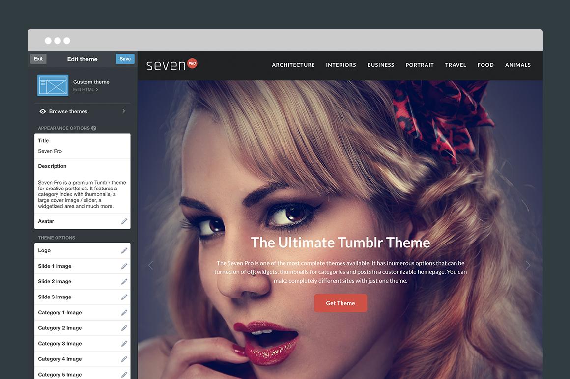 Seven Pro Tumblr Theme - 4