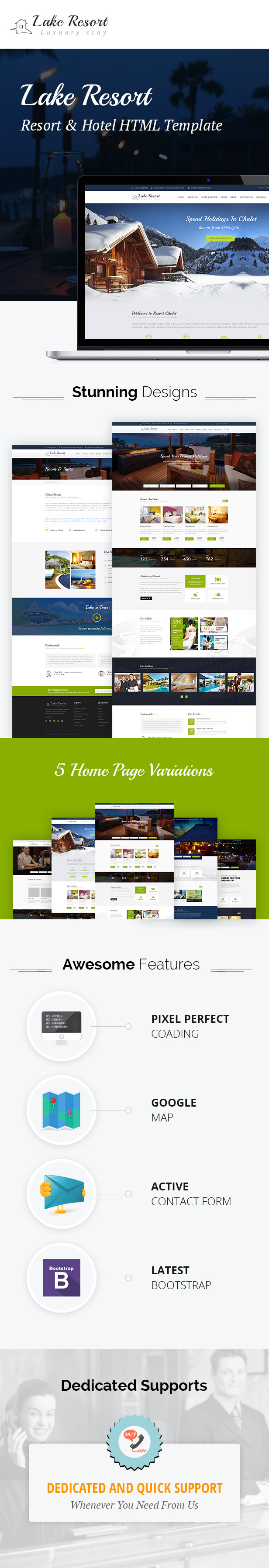 Lakecious : Resort and Hotel HTML Template - 2