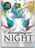 Champagne Party Flyer Template