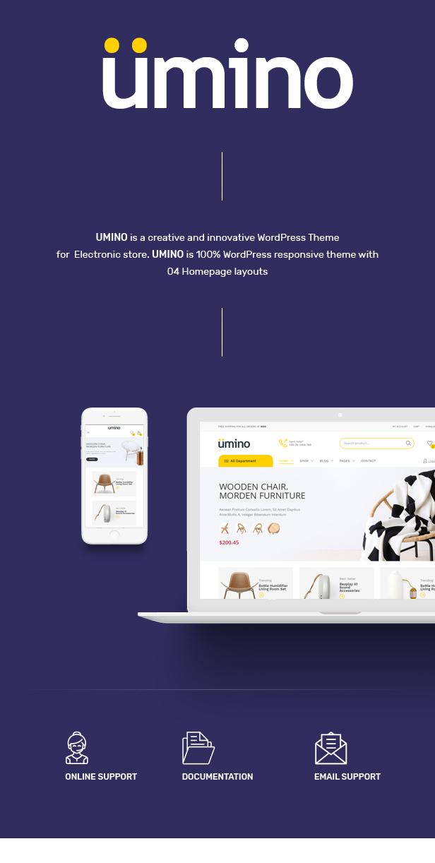 Umino - Furniture & Interior for WooCommerce WordPress 22