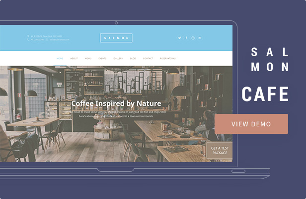 Salmon — Cafe WordPress Theme