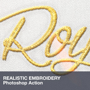 Realistic Embroidery - Photoshop Actions - 24