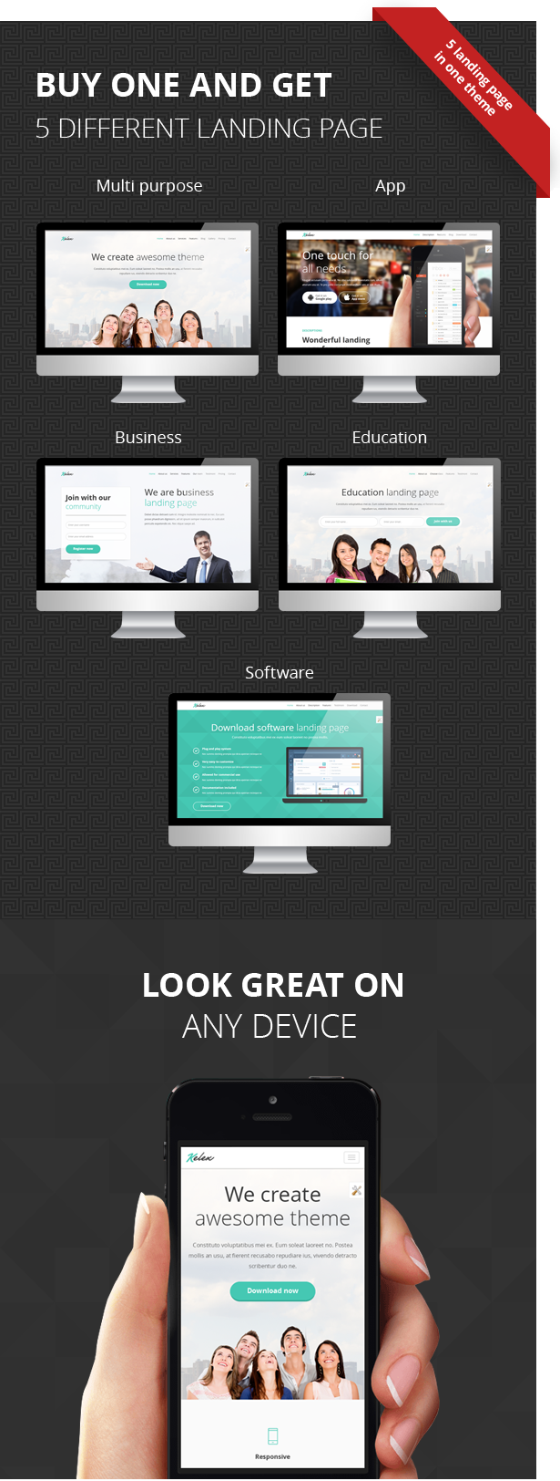 Kelex - Clean and Modern Landing Page Muse Template - 1
