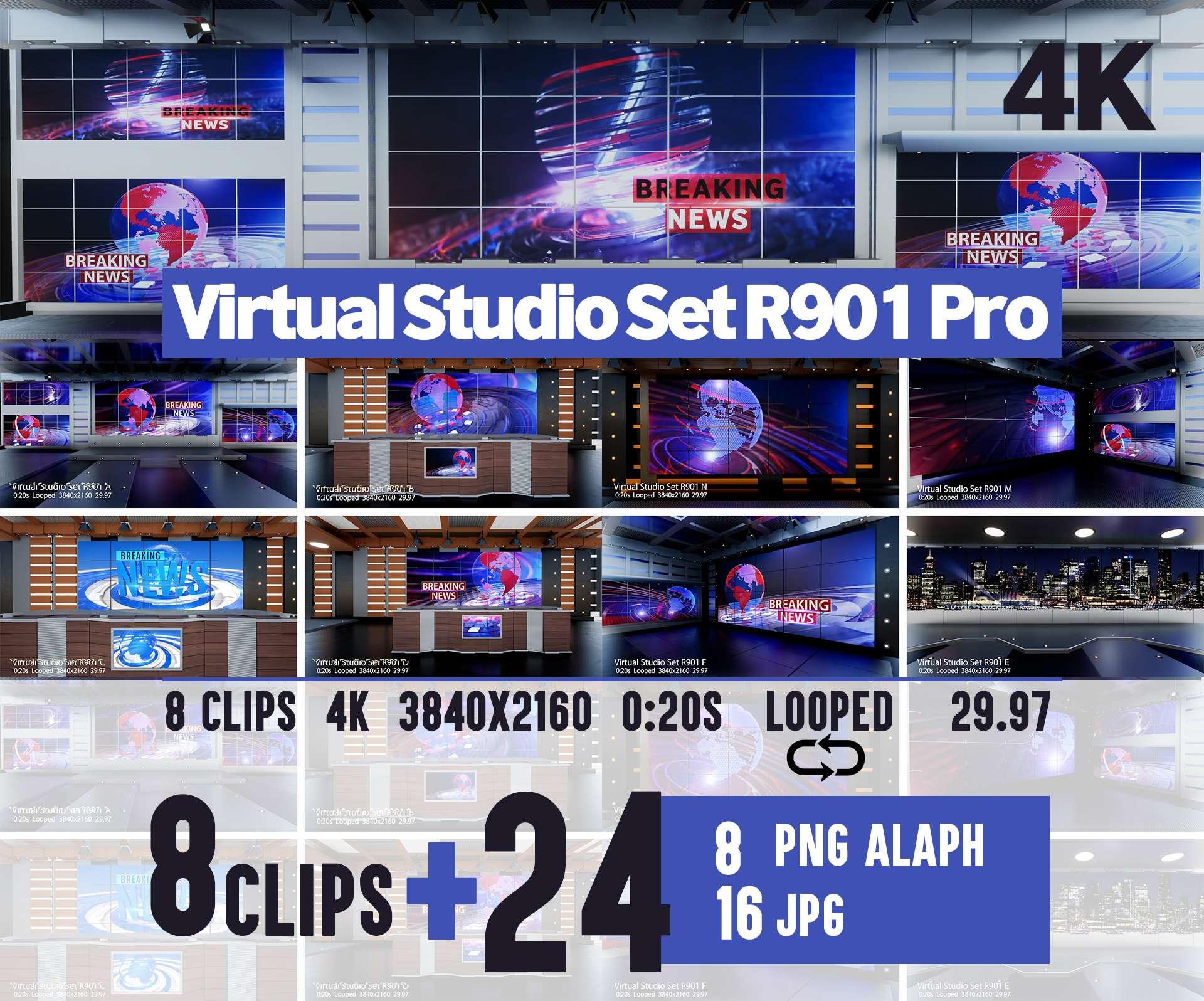 Virtual Studio Set A003 A - 1
