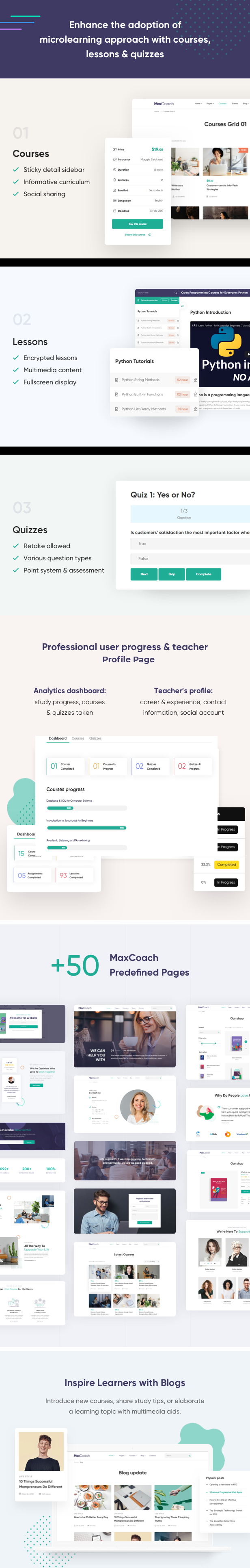 MaxCoach - Education Bootstrap 4 Template - 3