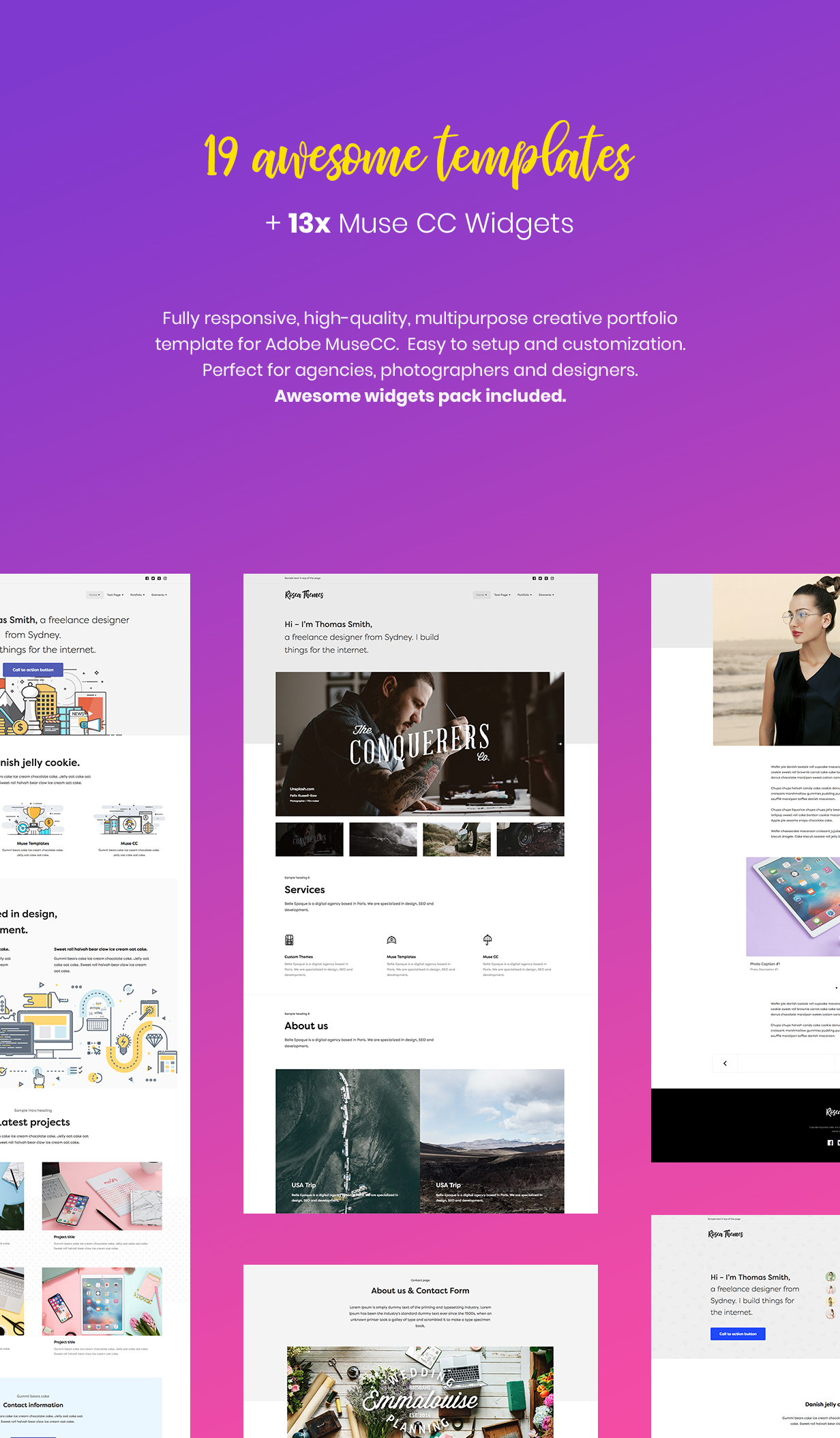 Simple - Creative Portfolio Muse CC Templates and Widgets