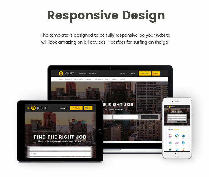 JobList - Responsive Job Board & Recruitment Joomla Template - 4