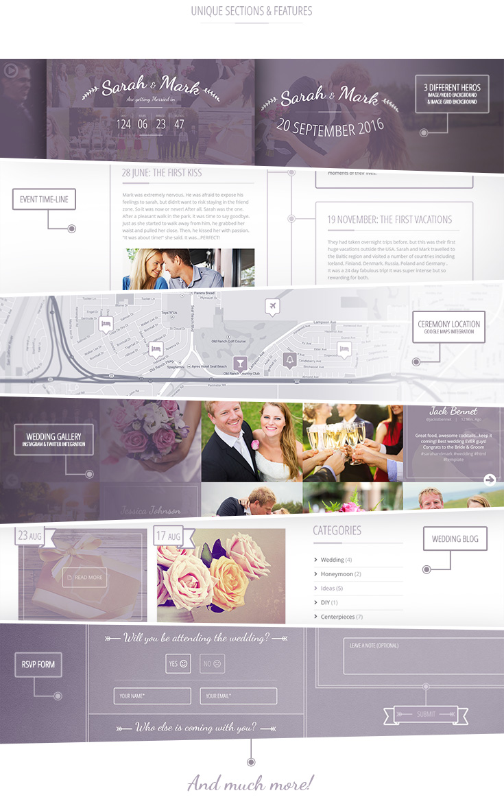 Lilac One Page Wedding Wordpress Theme By Wiselythemes Themeforest