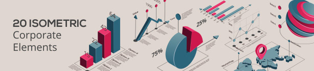 Isometric Corporate Infographic Elements
