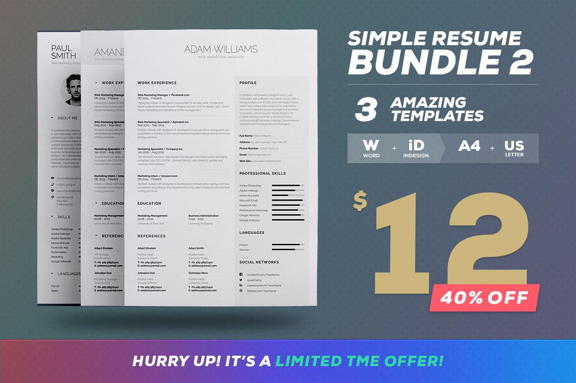 Simple Resume/Cv Volume 6 - 5