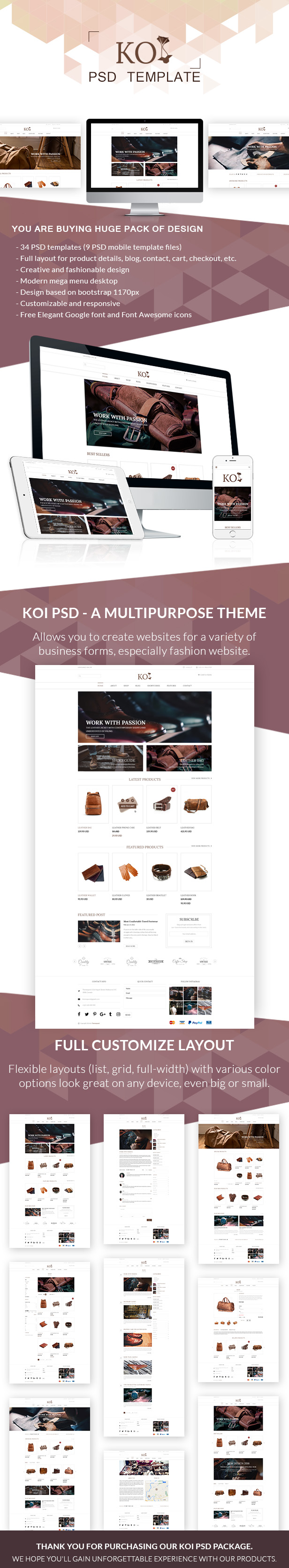 Koi Fashion Store And Ecommerce Multi Purpose Psd Template By Themespond