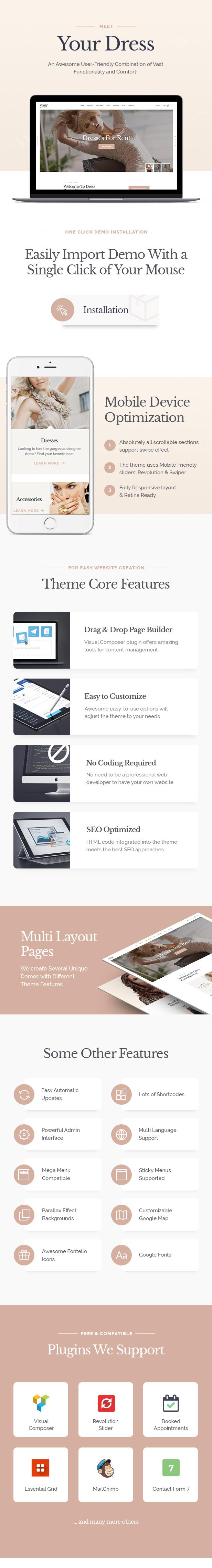 Your Dress | Dress Rent Rental Services WordPress Theme - 1