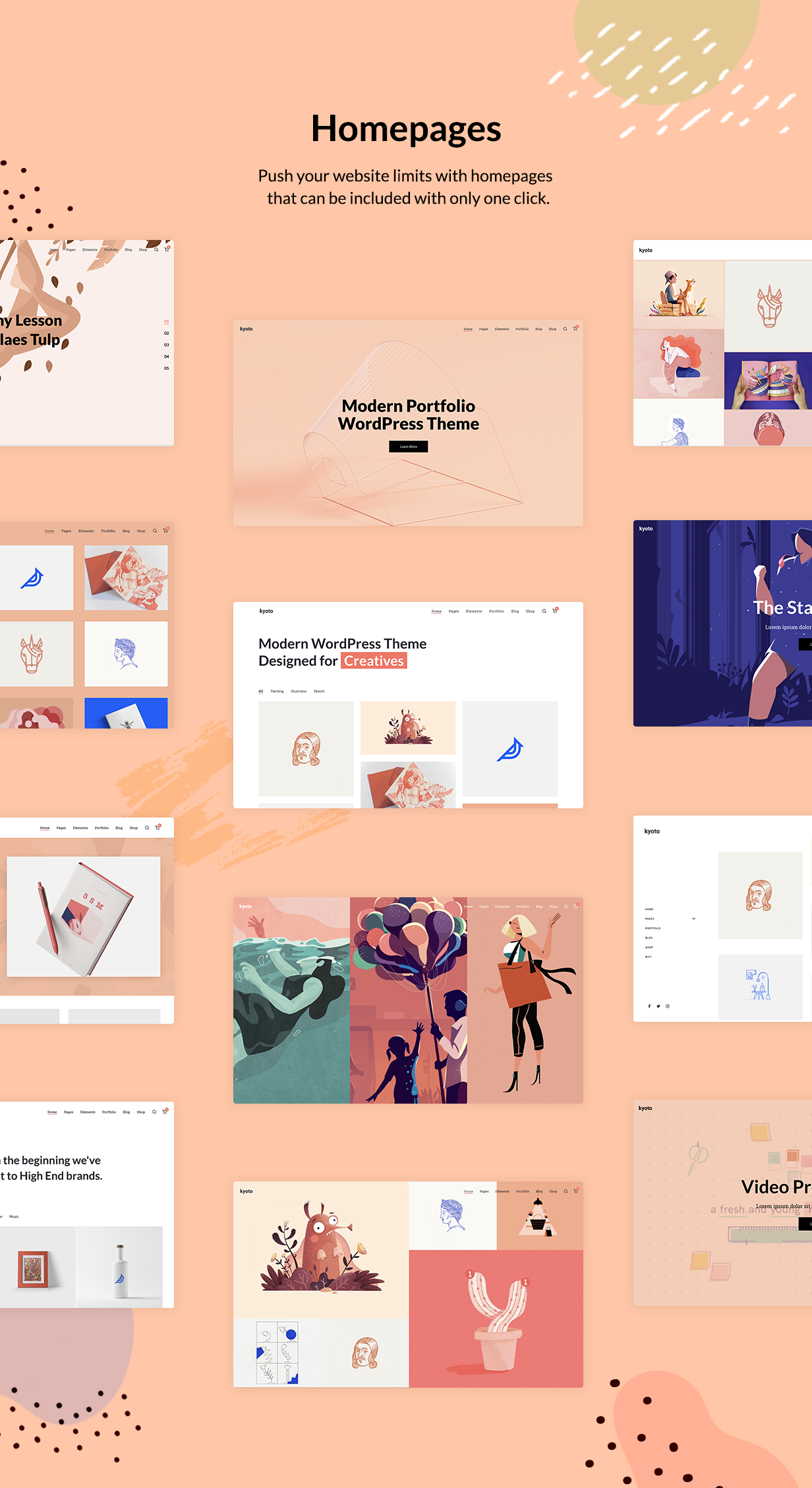 Kyoto - Innovative Portfolio Theme for Creatives