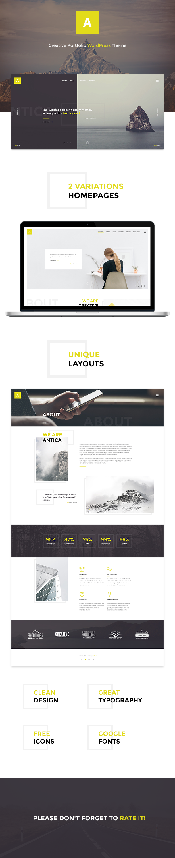 Antica Multipurpose Business AgencyPersonal Portfolio WordPress - Web development company website template