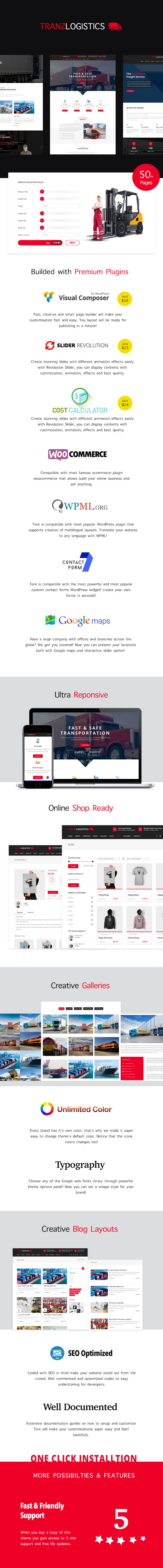 Tranzlogistics - Logistics, Cargo, Shipping and Transport WordPress Theme - 1