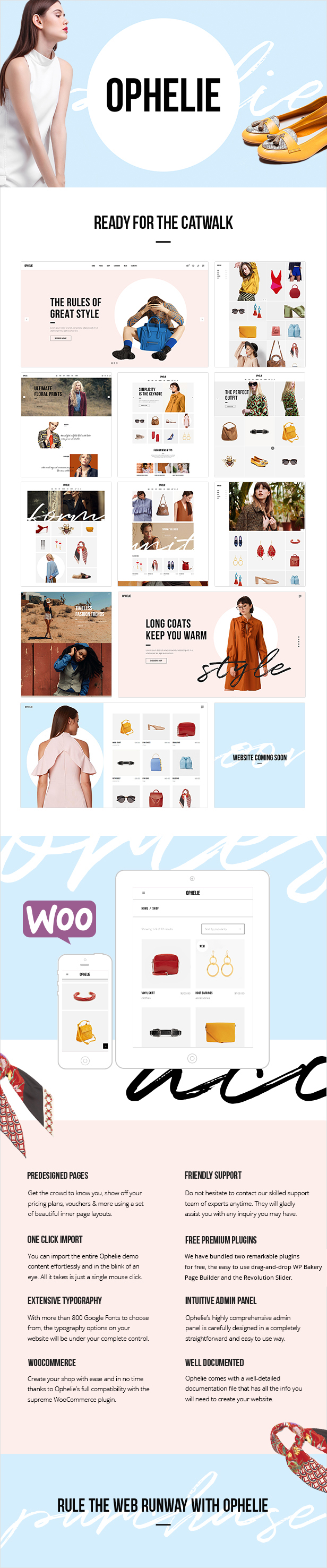 Ophelie - WooCommerce Theme for Fashion Shops, Stores and Brands - 1