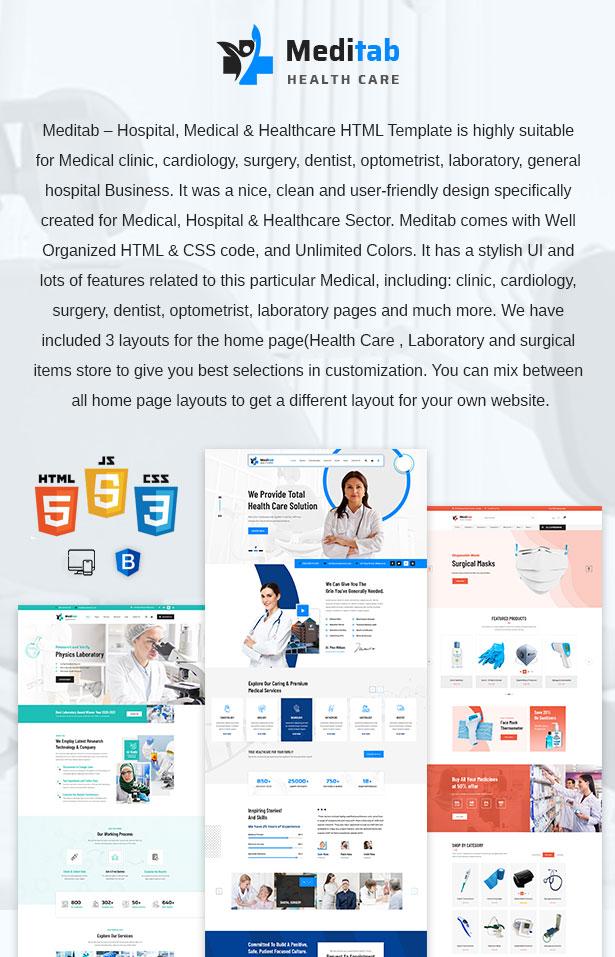 Meditab | Hospital And Medical Multipurpose HTML Template - 2